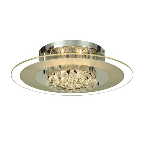 Delmar Chrome Crystal Semi Flush Light IL30022
