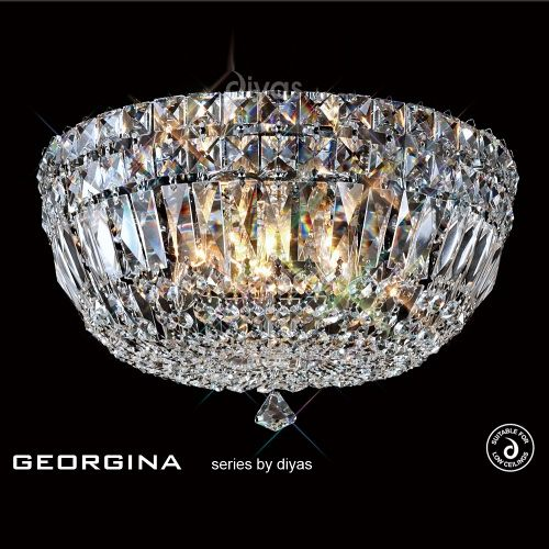 IL31480 Georgina Crystal Ceiling Light