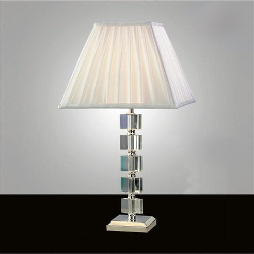 Alina Crystal Table Lamp Il11021, Crystal Square Base Table Lamp