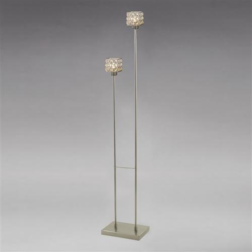 Elsa 2 Light Satin Nickel Floor lamp IL20644