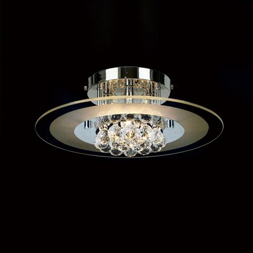Delmar Chrome Circular Semi Flush Light IL30021
