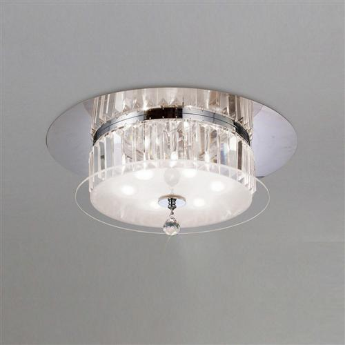 Tosca Semi Flush Crystal Light Il30242 The Lighting