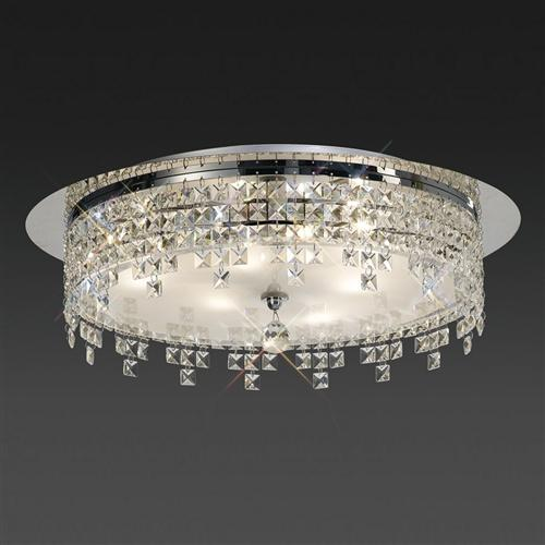 Esta Round Crystal Flush Ceiling Light Il30261