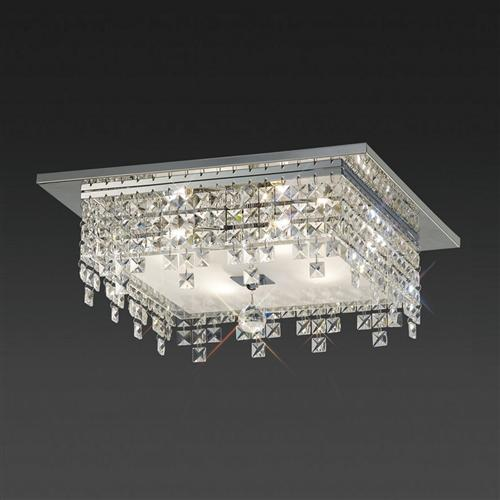 Esta Square Crystal Flush Ceiling Light Il30262