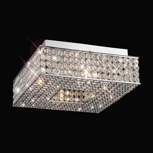Piazza Crystal Ceiling Light Il30431 The Lighting Superstore