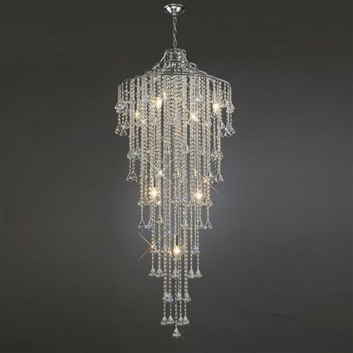 Amazing Inina Crystal Pendant Stairwell Light Il30775