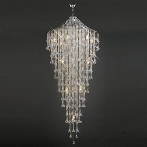 Inina Crystal Pendant Stairwell 15 Light Il30776 The