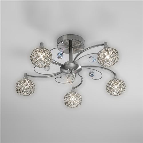 IL30935 Cara Crystal Ceiling Light