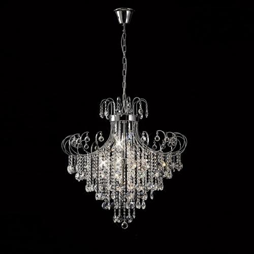 Rosina Chrome Crystal 8 Light Pendant Il31058