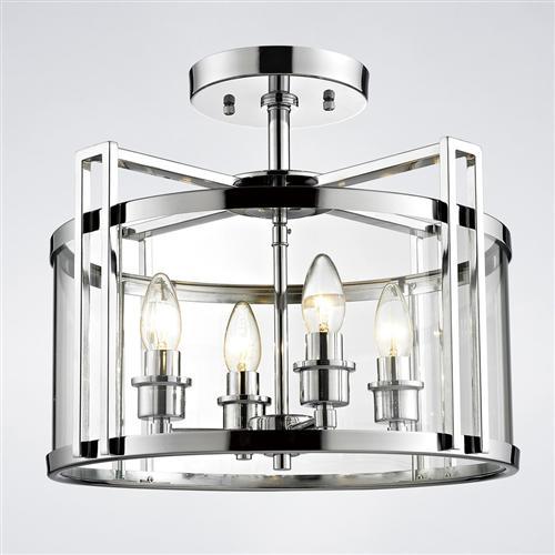 Eaton 4 Light Semi Flush Ceiling Fitting The Lighting Superstore