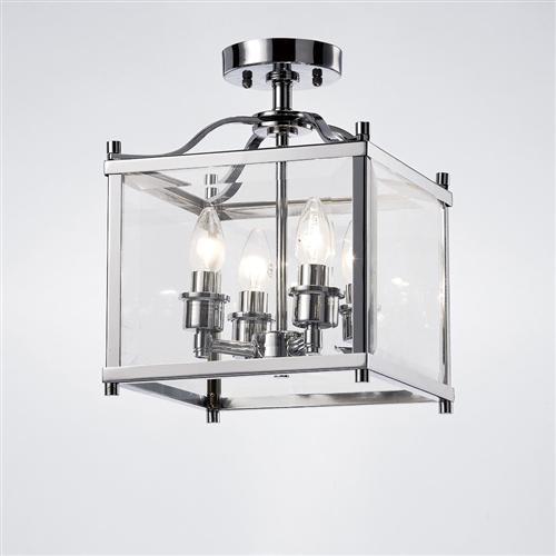 Aston 4 Light Semi Flush Lantern The Lighting Superstore