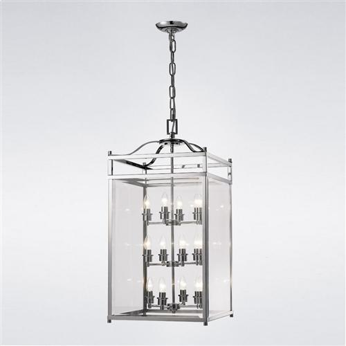 Aston Polished Chrome Ceiling Mounted Lantern IL31105