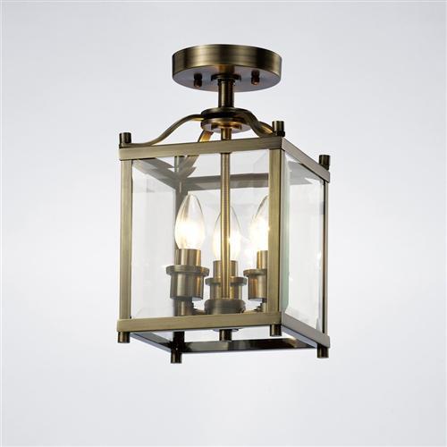 Aston 3 Light Semi Flush Lantern The Lighting Superstore