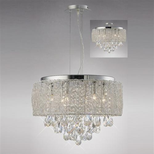 Adeline 6 Light Polished Chrome Pendant IL31161