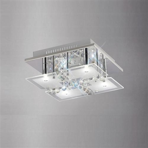 IL31300 Chisora 4 light Crystal Ceiling Light