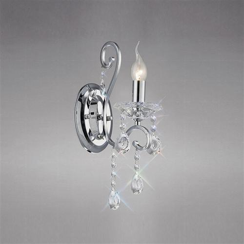 Vela Single Chrome Wall Light Il31361