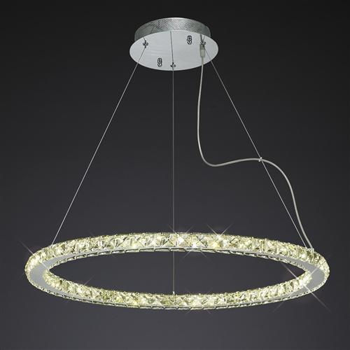 IL80037 Galaxy LED Crystal Ceiling Pendant