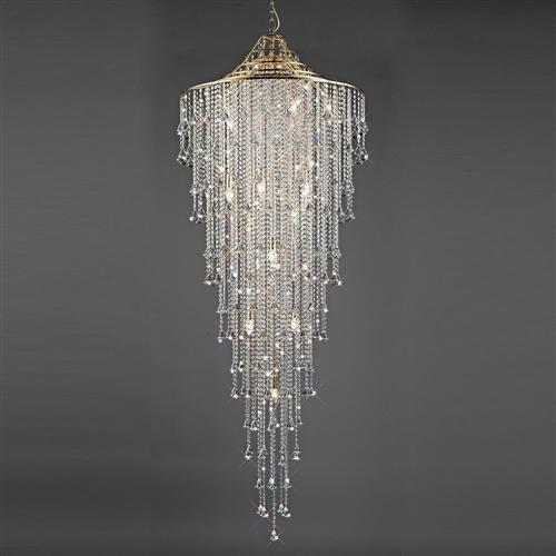 Inina 15 Light French Gold Clear Crystal Ceiling Pendant Il32776