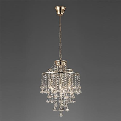 Inina Four Light Crystal Ceiling Pendant French Gold Il32771