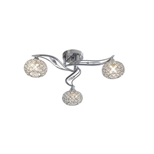 Leimo Semi-Flush Chrome/Crystal Ceiling Light IL30953