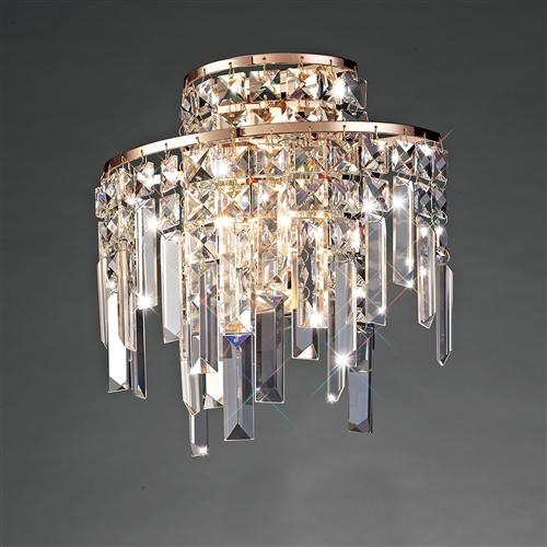 Maddison Wall Light Rose Gold Clear Crystal Il31710