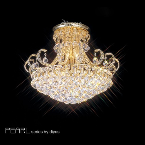 Crystal semi flush ceiling lights the lighting superstore pearl crystal ceiling light il30007 aloadofball Gallery