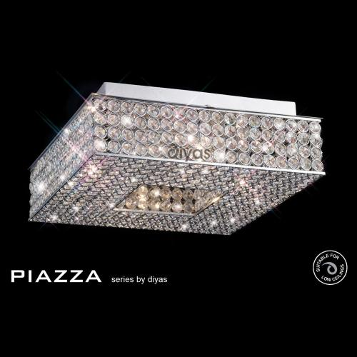 Il30431 Piazza Crystal Ceiling Light The Lighting Superstore