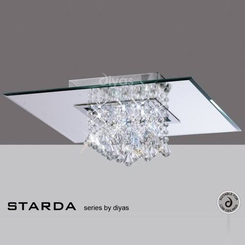 Starda 8 light square semi flush the lighting superstore starda semi flush crystal light il31008 mozeypictures Choice Image