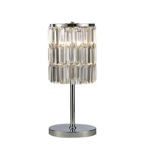 Torre Polished Chrome 3 Light Crystal Table Lamp Il30178