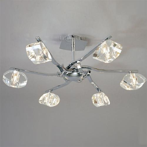 Alfa Semi Flush Drop Rod Multi Light Ceiling Fitting The Lighting Superstore