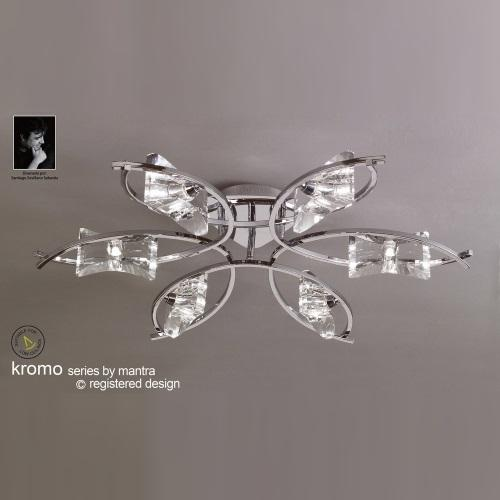 M0886 Kromo Chrome Semi FlushCeiling Light