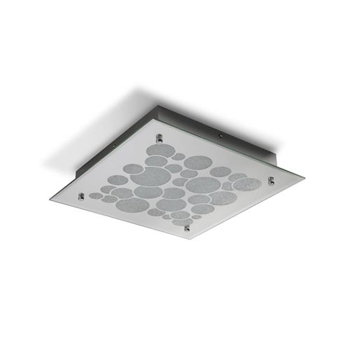 Coral LED Large Chrome Square Flush Ceiling Fitting M5550