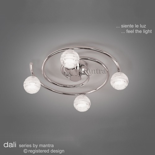 M0089 Dali Polished Chrome Semi-Flush Ceiling Light