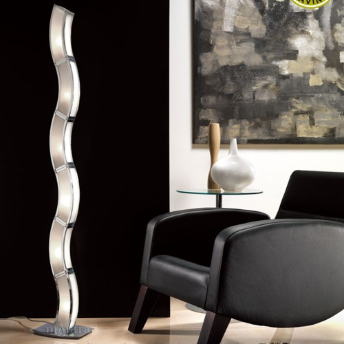Duna Modern Floor Lamp Polished Chrome M0392