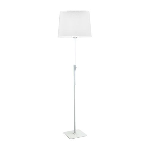 Habana White And Chrome Adjustable Floor Lamp M5310 + M5312