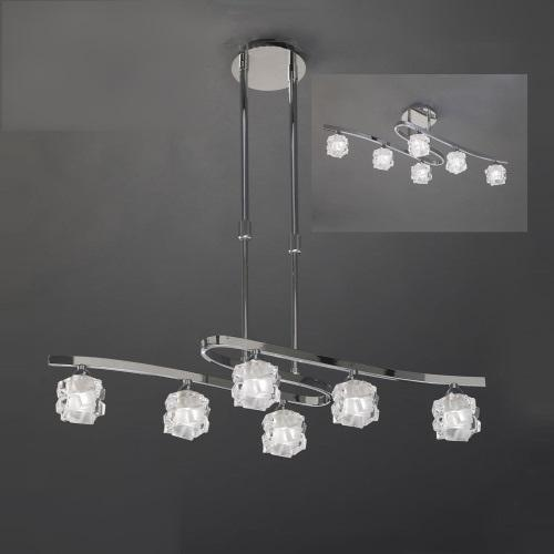 Ice Chrome Adjustable Pendant Light M1841