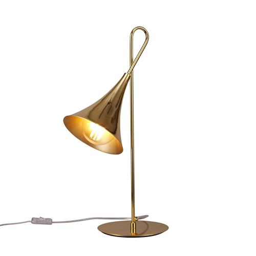 Jazz Polished Gold Coloured Table Lamp M5909