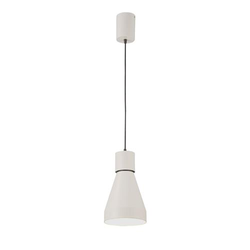 Kos Fusion Large Single Matt White Pendant Fitting M5620