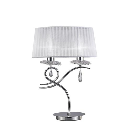 Louise Chrome Double Table Lamp M5278