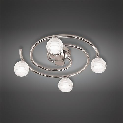 dali polished chrome semiflush ceiling light m0089
