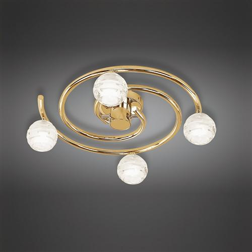 Dali 3 arm swirl semiflush ceiling light the lighting superstore dali polished brass semi flush ceiling light m0089pb mozeypictures Images