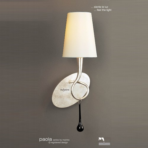 Paola Single Wall Light With Cream Shade M0538/S/Cs