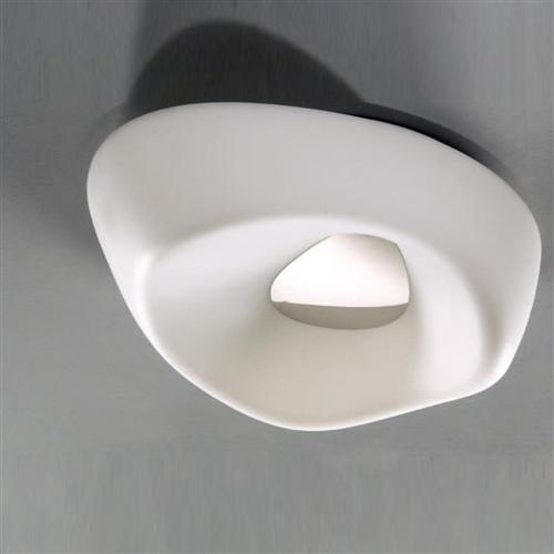 Huevo Contemporary Flush Fitting Ceiling Light M1334