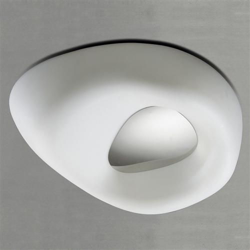 Huevo Small Contemporary Flush Fitting Ceiling Light M1336
