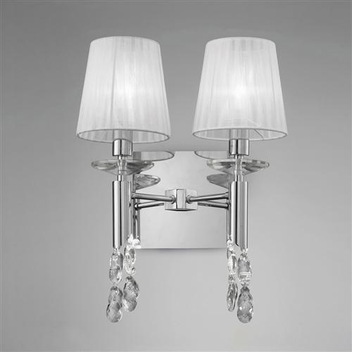 Tiffany Contemporary Double Crystal Wall Light In Chrome M3863/S