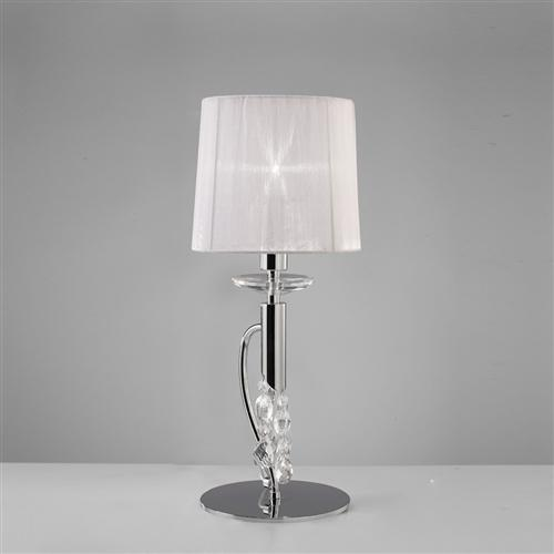 Tiffany Chrome Contemporary Crystal Table Lamp M3868