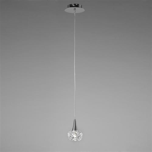 Maremagnum Chrome Single Ceiling Pendant Light M3946