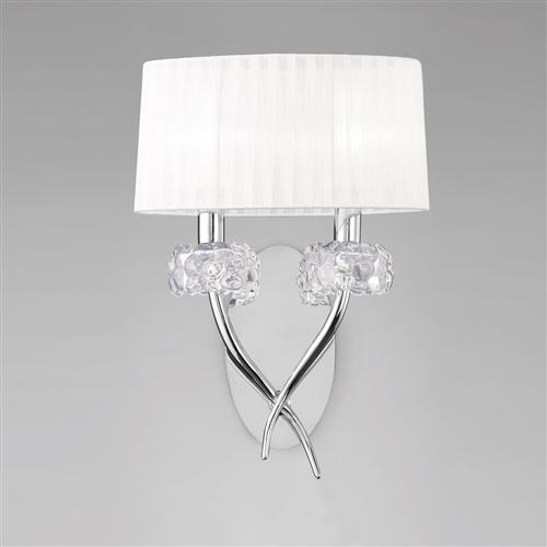 Loewe Chrome Contemporary Double Wall Light M4634/S