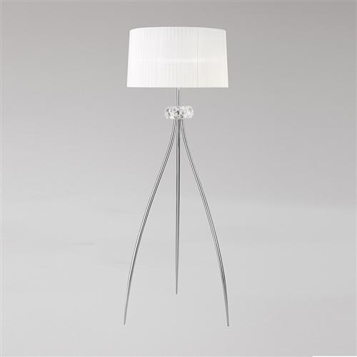 Loewe Contemporary 3 Light Floor Lamp, Contemporary Floor Lamp With Table