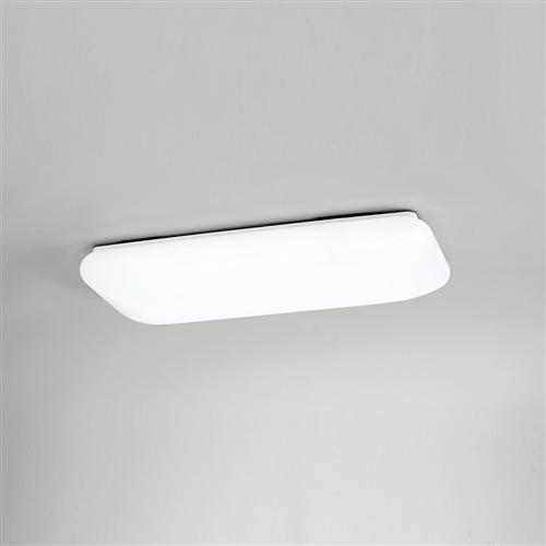 Contemporary Small Rectangle Flush Fitting Ceiling Light M4670